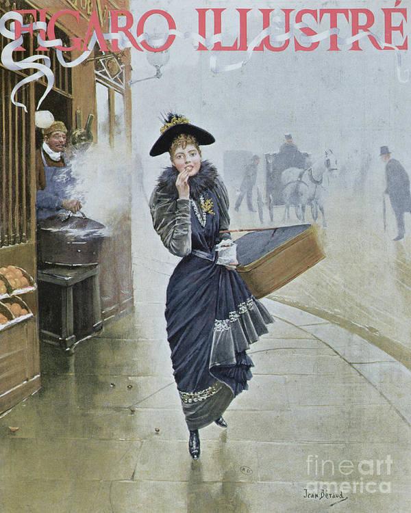 Street Scene Art Print featuring the painting Young Parisian Hatmaker by Jean Beraud