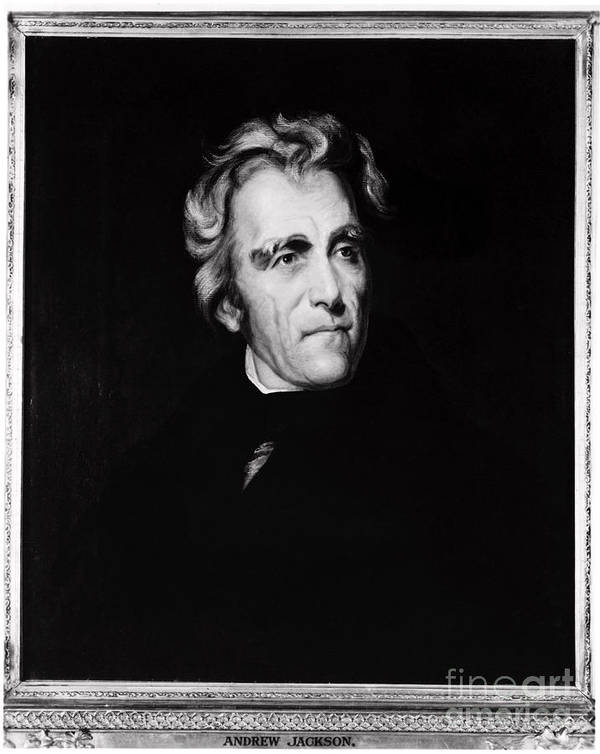 History Art Print featuring the photograph Andrew Jackson, 7th American President by Photo Researchers