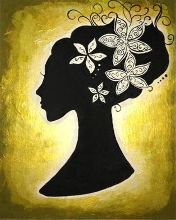 Silhouette Art Print featuring the painting Bella Dama by Brandy Nicole Neal