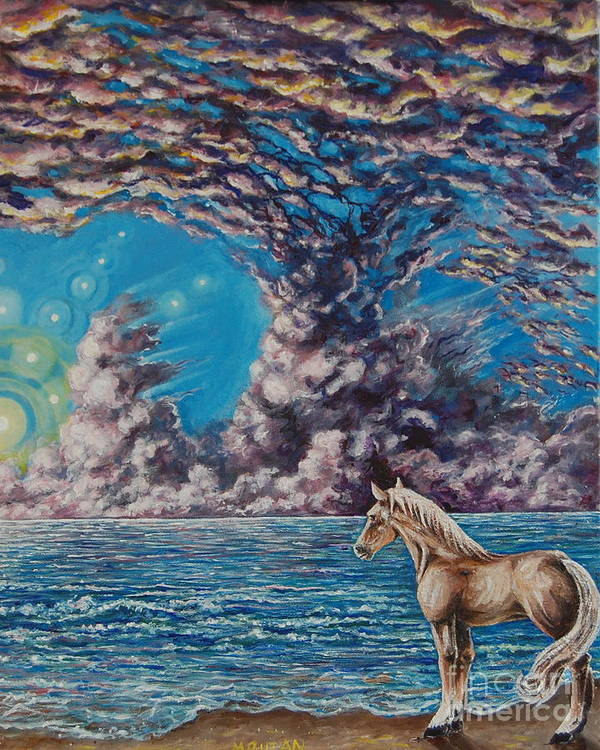 Horse Art Print featuring the painting Ginger by Matt Buzan