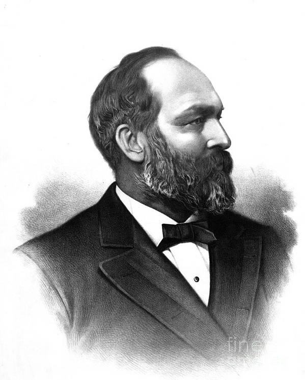 Government Art Print featuring the photograph James A. Garfield, 20th American by Photo Researchers