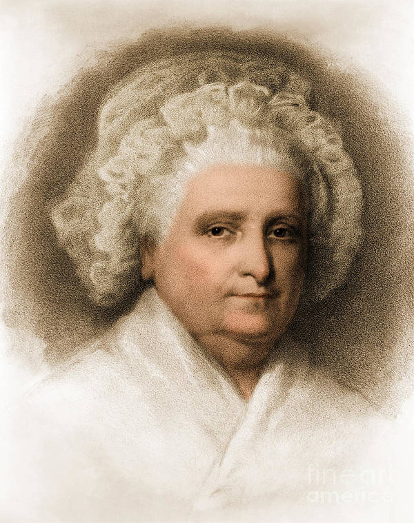 History Art Print featuring the photograph Martha Washington, American Patriot by Photo Researchers