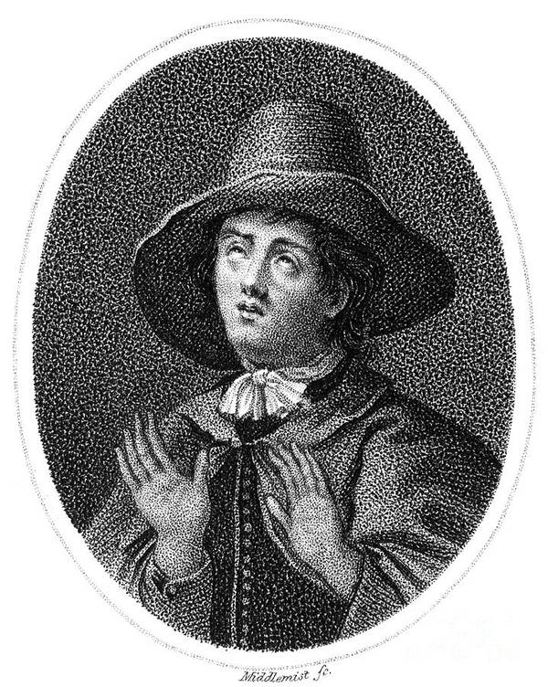 English Print featuring the photograph George Fox (1624-1691) by Granger