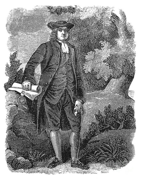 17th Century Art Print featuring the photograph William Penn (1644-1718) by Granger