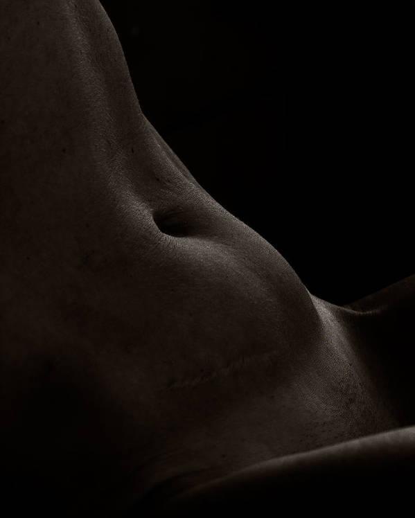 Fine Art Nude Art Print featuring the photograph Abdomen 2 by Daniel Love