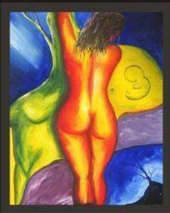Madre Art Print featuring the painting Aborto by Michael Josue Serrano