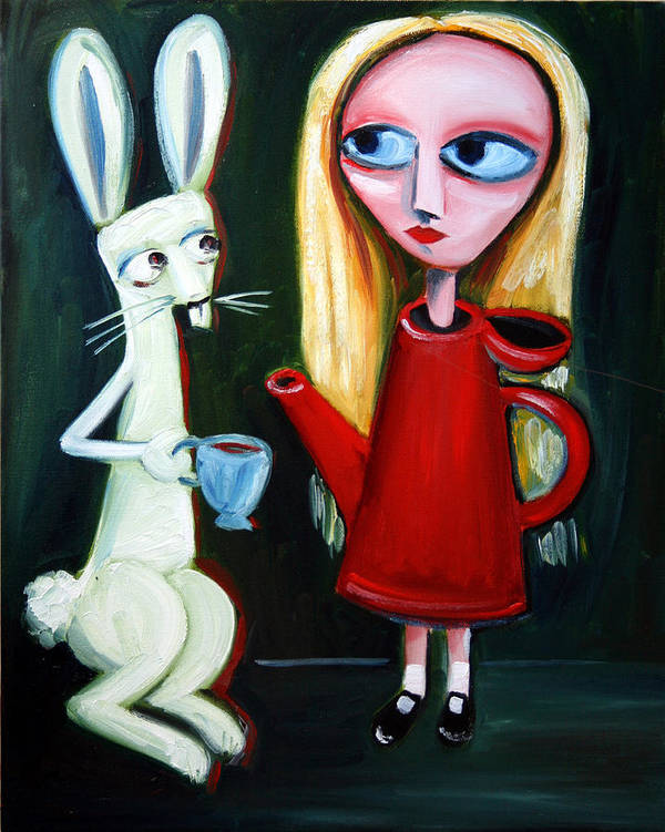 Alice Print featuring the painting Alice A Tea Pot by Leanne Wilkes