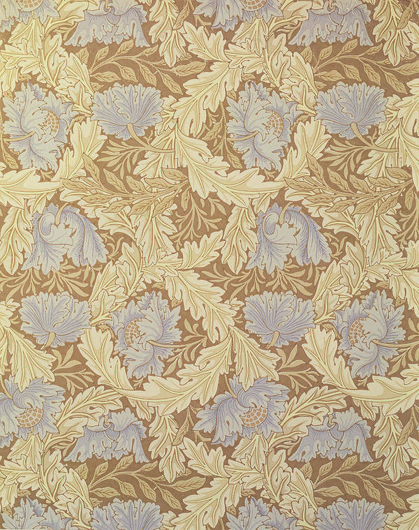 Arts And Crafts Movement; Floral; Pattern Art Print featuring the tapestry - textile Bower Wallpaper Design by William Morris