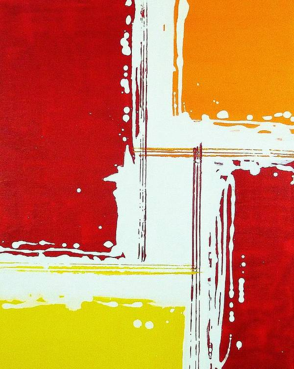 Red Art Print featuring the painting Boxed by Michael Scullari