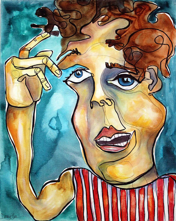 Portrait Art Print featuring the painting Bucko by Darcy Lee Saxton
