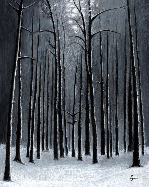 Landscape Art Print featuring the painting Deep Woods by Scott Alberts