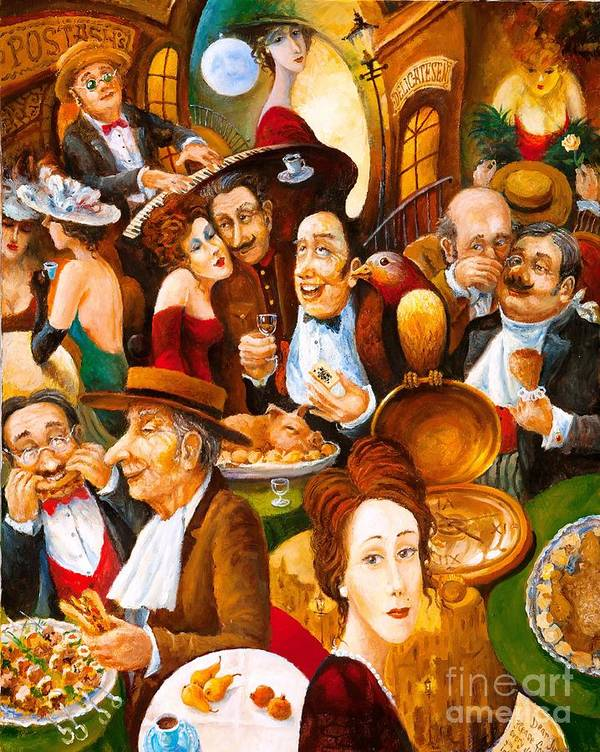 Figurative Art Print featuring the painting Delicatessen by Igor Postash