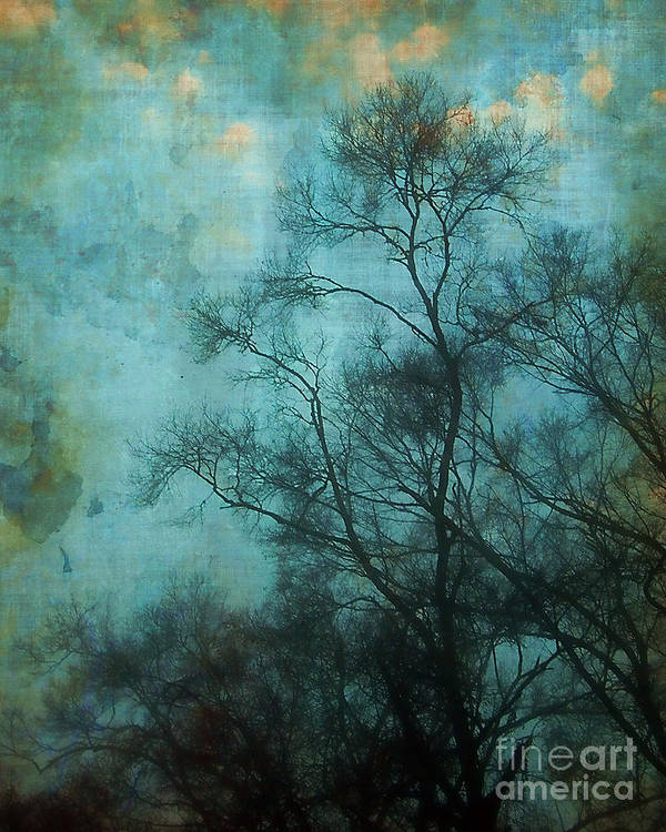 Aqua Print featuring the photograph Evening Sky by Judi Bagwell
