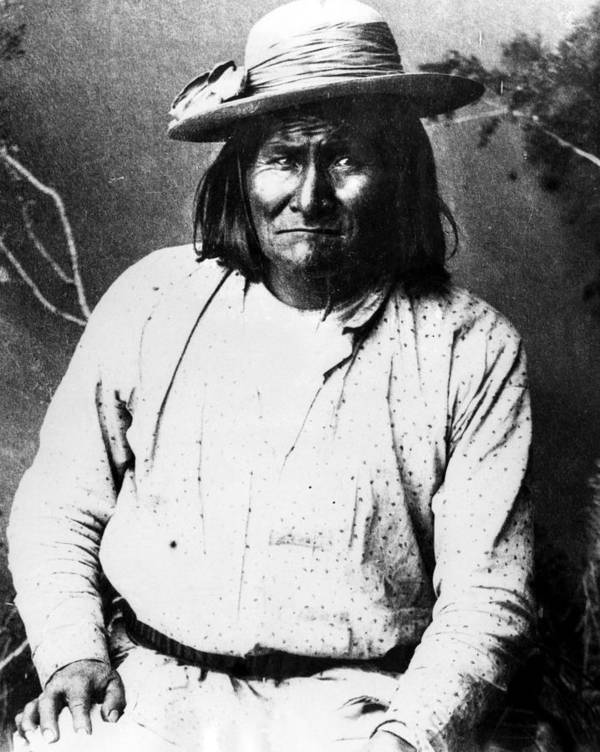 1880s Art Print featuring the photograph Famous Apache Leader, Geronimo by Everett