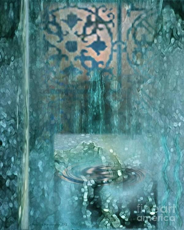 Psalm 36 Art Print featuring the digital art Fountain Of Life by Brigetta Margarietta