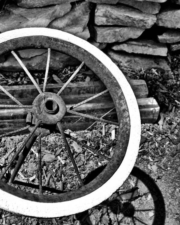 Garden Art Print featuring the photograph Garden Wheel by Kristen Cavanaugh