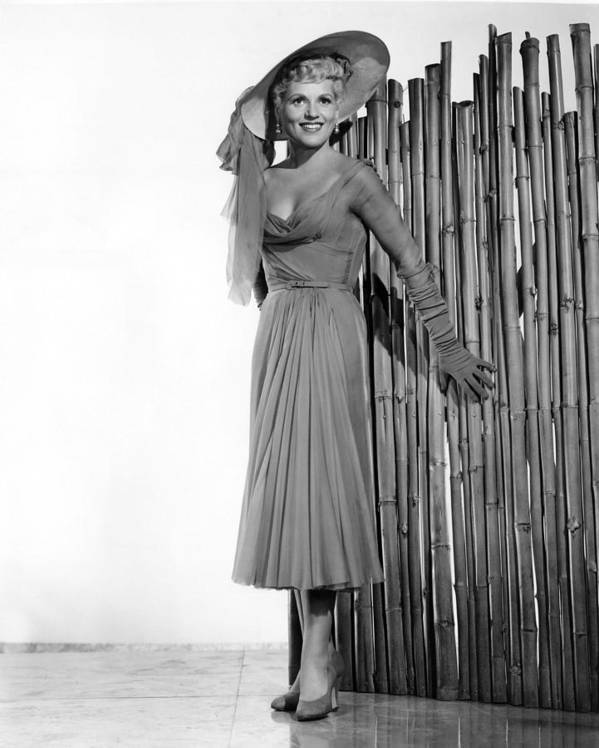 1950s Portraits Print featuring the photograph It Should Happen To You, Judy Holliday by Everett