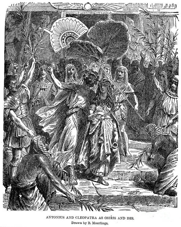 1st Century B.c Art Print featuring the photograph Marc Antony & Cleopatra by Granger