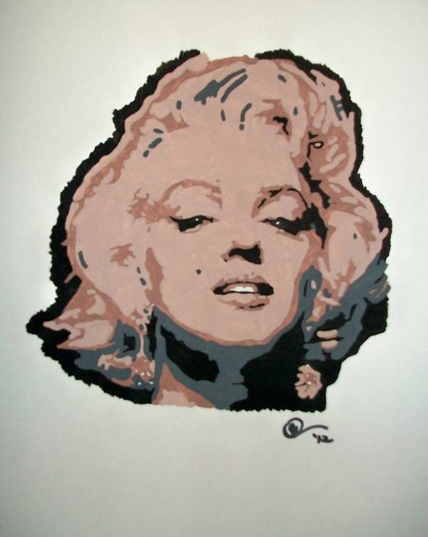 Marilyn Monroe Art Print featuring the painting Marilyn Monroe by Ashley Whitaker