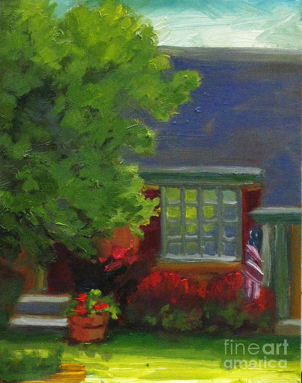 Landscape Art Print featuring the painting Mendons Window by Judith Reidy