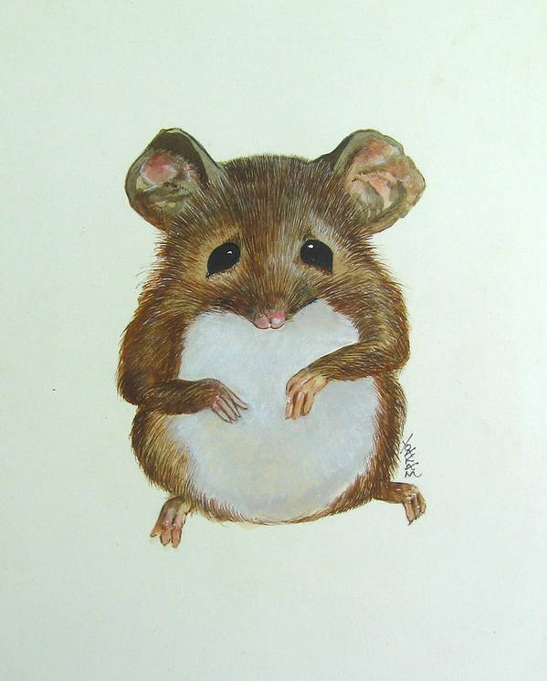 Mouse Art Print featuring the painting Mouse by Richard Yoakam