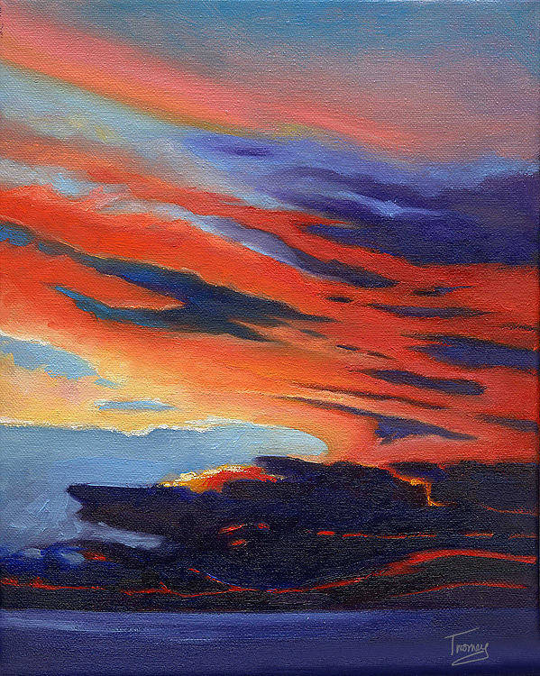Ocean Art Print featuring the painting Natural Light by Catherine Twomey