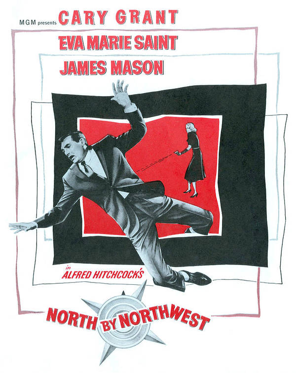 1950s Movies Art Print featuring the photograph North By Northwest, Cary Grant, Eva by Everett