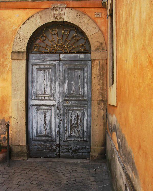 Door Art Print featuring the photograph Orvieto Doorway by Greg Matchick