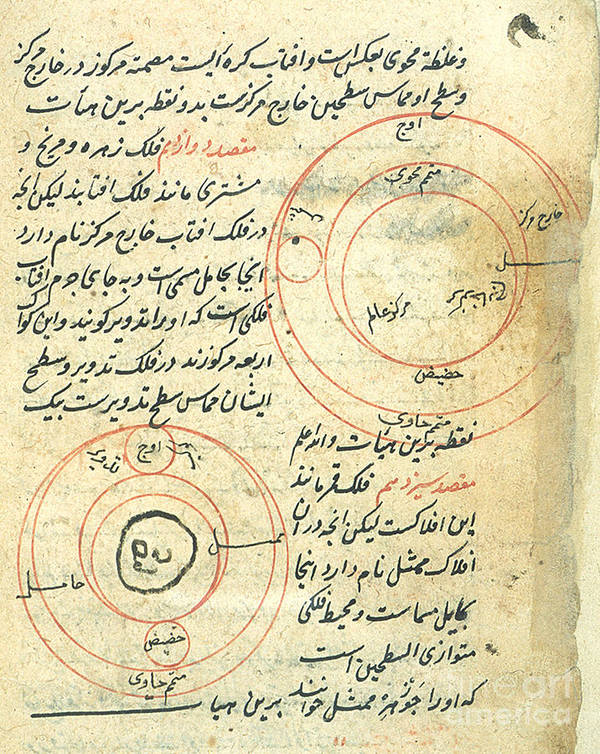 Science Art Print featuring the photograph Planetary Diagram, Islamic Astronomy by Science Source
