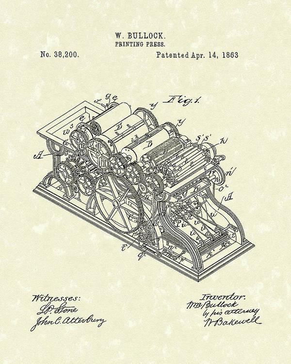 Astounding Printing Press 1863 Patent Art Art Print By Prior Art Design Wiring Digital Resources Attrlexorcompassionincorg