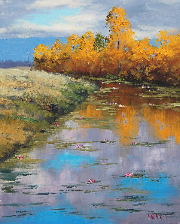 Fall Art Print featuring the painting Reflections by Graham Gercken