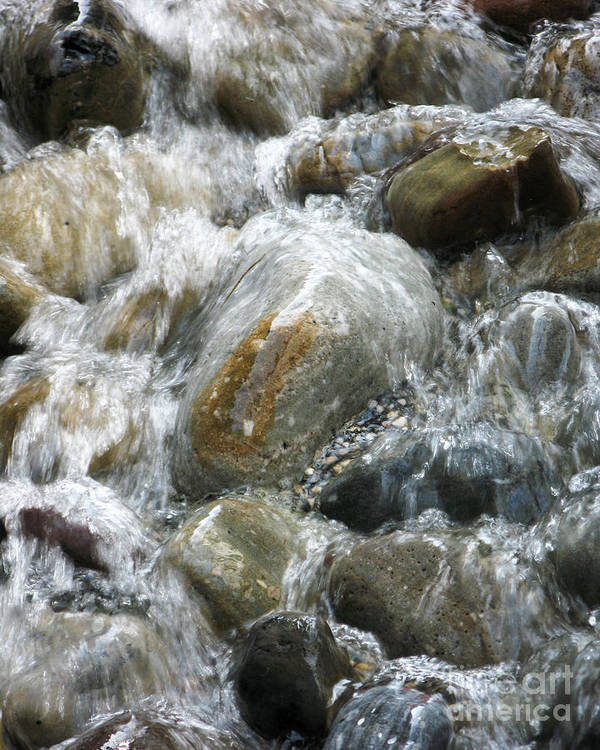 Stones Art Print featuring the photograph Rippling Water by Anne Ferguson