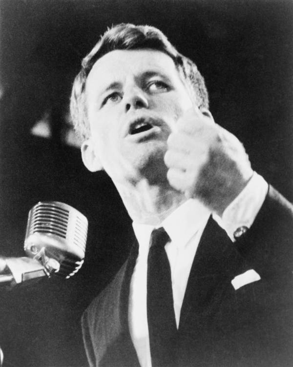 History Art Print featuring the photograph Robert F. Kennedy Making His Acceptance by Everett