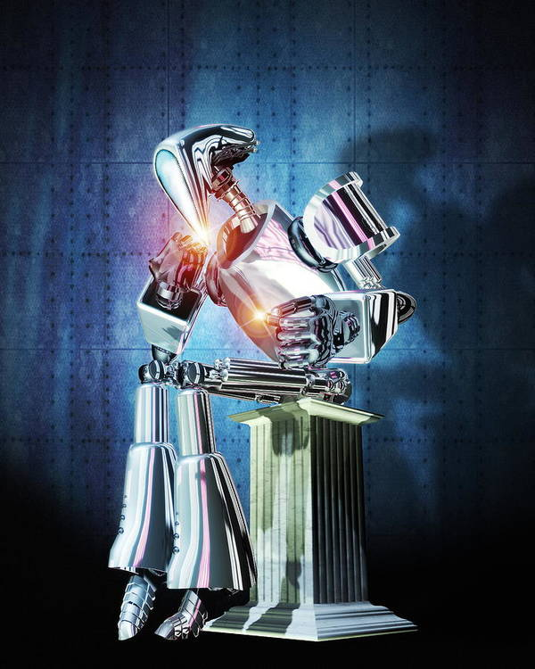 Equipment Art Print featuring the photograph Robot Intelligence by Victor Habbick Visions