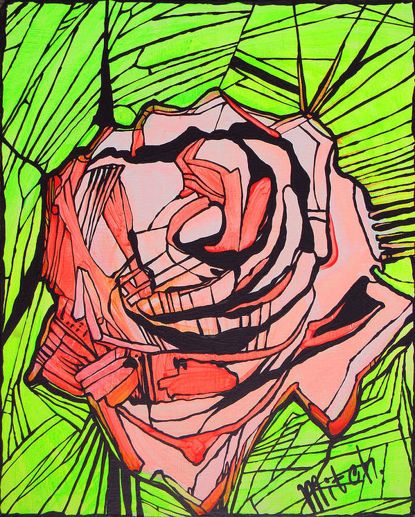 Rose Art Print featuring the painting Rose 3 by Dina Ignatenko