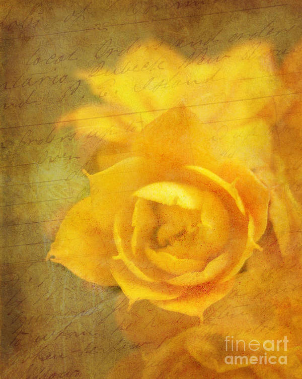Yellow Art Print featuring the photograph Roses For Remembrance by Judi Bagwell