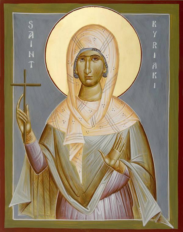 St Kyriaki Art Print featuring the painting St Kyriaki by Julia Bridget Hayes