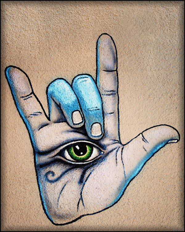 Grafitti Wall Art Art Print featuring the photograph Surveillance by Diane Wood
