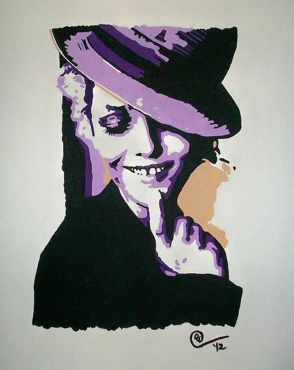 Vanessa Paradis Art Print featuring the painting Vanessa Paradis by Ashley Whitaker
