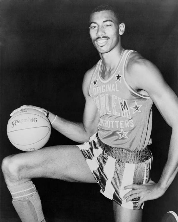 History Print featuring the photograph Wilt Chamberlain, Wearing Uniform by Everett