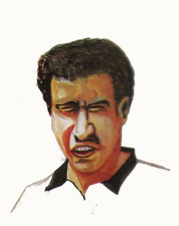 Sports Art Print featuring the painting Younes El Aynaoui by Emmanuel Baliyanga