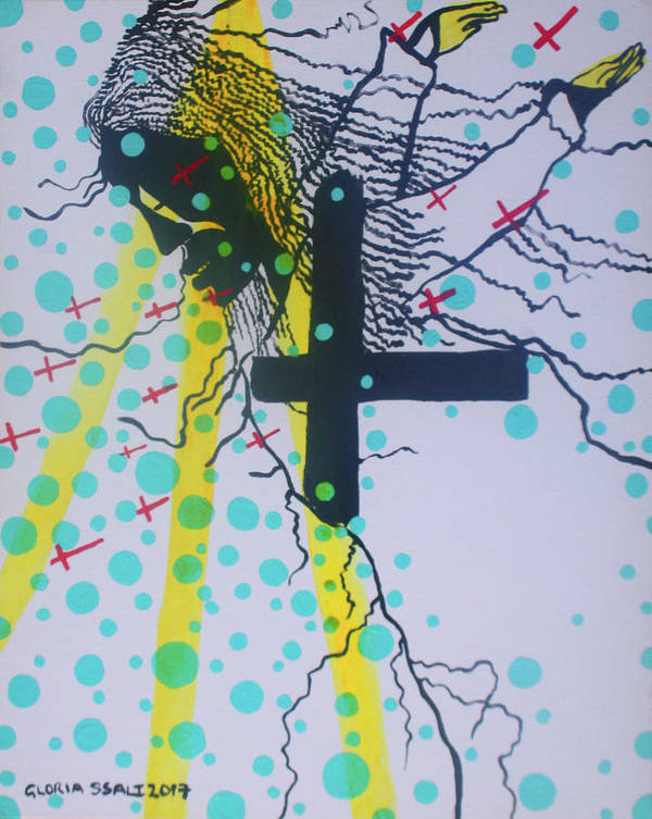 Jesus Art Print featuring the painting Deliverance Is Here by Gloria Ssali