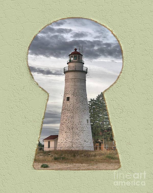Lighthouse Art Print featuring the digital art Fort Gratiot Lighthouse by Steve Edwards