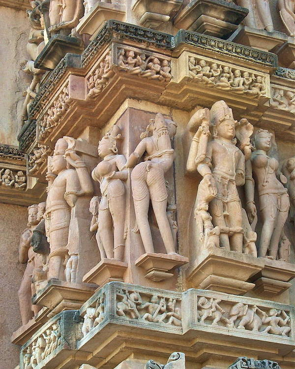 Erotic Scenery Nudity Art Print featuring the photograph Kama Sutra Temple by Dorota Nowak
