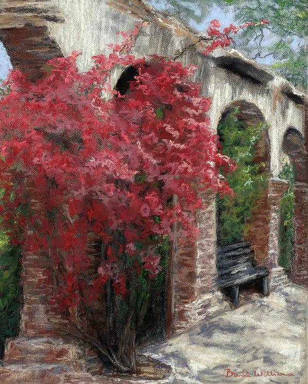 Mission Art Print featuring the painting Mission Arches by Brenda Williams
