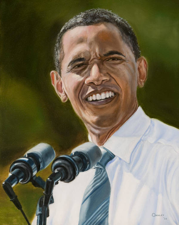 President Barack Obama Art Print featuring the painting President Barack Obama by Christopher Oakley