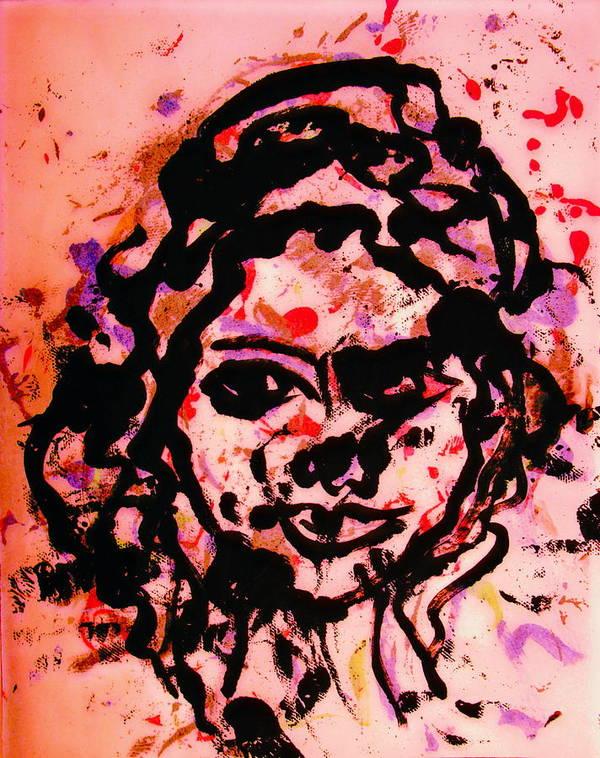 Portrait Art Print featuring the painting Self Portrait by Natalie Holland