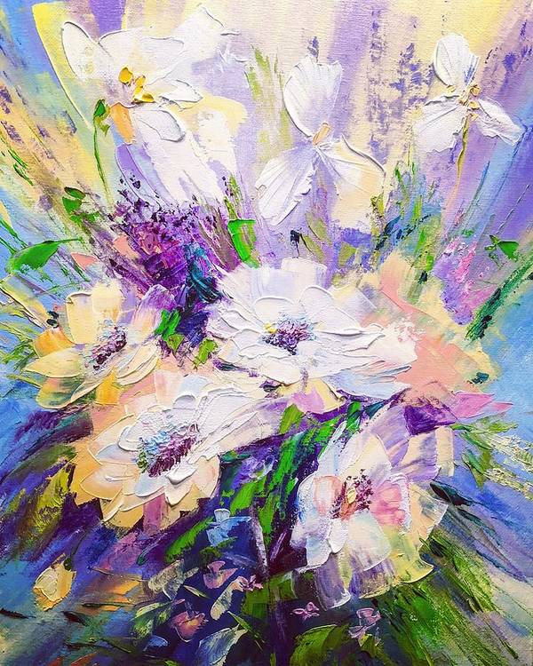 Oil Art Print featuring the painting Spring Time by Marina Wirtz