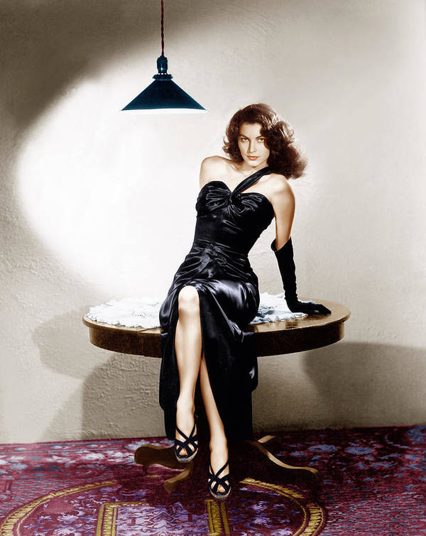 1940s Portraits Art Print featuring the photograph The Killers, Ava Gardner, 1946 by Everett