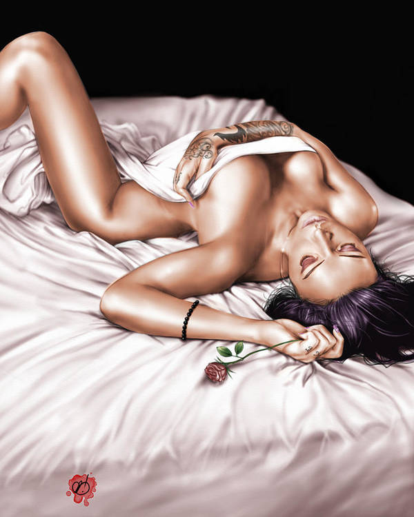 Pete Art Print featuring the painting The Rose by Pete Tapang